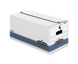 Bankers Box Store/File Medium-Duty Storage Boxes with String and Button, Letter, 4 Pack (0070403)