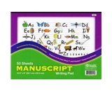 BAZIC Manuscript Writing Pad, 10.5 x 8 Inch, 50 Count