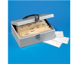 Buddy 51132 BDY51132 Steel Business Check File with Lock, 11w x 7-3/4d x 4h, Platinum