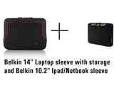 Belkin Netbook/Ipad and 14- Laptop bag Combo pack, TWO CASES