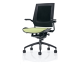 Bodyflex BF4100GRN Office Chair with Black Frame and Green Fabric