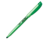 BIC Brite Liner Highlighter, Chisel Tip, Green, 12 Highlighters