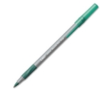 BIC Ultra Round Stic Grip Ball Point Pen, Green Ink, Medium (1.2 mm), 12 Pens (GSMG11-GREEN)