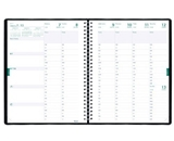 Blueline Weekly Academic Planner, July 2012 - July 2013, Twin-Wire, 11 x 8.5-Inches, Black, 1 Planner
