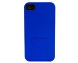 Body Glove iPhone 4 and iPhone 4S Soft Touch Cell Phone Case with Hideaway Stand - Blue (9253101)