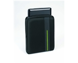 Body Glove Stride Vertical Netbook Sleeve, Fits up to 10.2- Screens, Black/Lime Green (9506401)