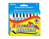 BAZIC 8 Color Scented Jumbo Watercolor Marker