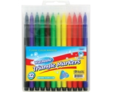 BAZIC 12 Triangle Washable Watercolor Markers