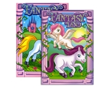 FANTASY LAND FOIL & EMBOSSED Coloring & Activity Book