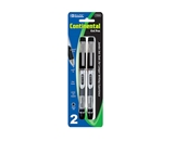 BAZIC Continental Black Jumbo Ink Tank Needle-Tip Gel Ink Pen with Grip (2/Pack)