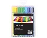 BAZIC 24 Color Washable Fiber Tip Pen