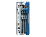 BAZIC Taylor Black Color Rollerball Pen (3/Pack)