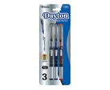 BAZIC Dayton Asst. Color Rollerball Pen with Metal Clip (3/Pk)