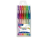 BAZIC 6 Fluorescent Color Gel Pen with Cushion Grip