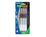 BAZIC Essence Assorted Color Gel-Pen with Grip (4/Pack)