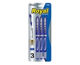 BAZIC Royal Blue Rollerball Pen (3/Pack)