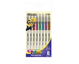 BAZIC 8 Color Prima Stick Pen with Cushion Grip