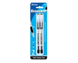 BAZIC Black Erasable Pen (2/Pack)