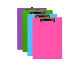 BAZIC Bright Color PVC Standard Clipboard with Low Profile Clip