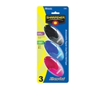 BAZIC Xtreme Oval Sharpener with Receptacle (3/Pack)