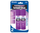 BAZIC 21g / 0.7 Oz. Large Washable Purple Glue Stick (2/Pack)