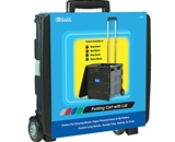 BAZIC 16X18X15 Black Folding Cart on Wheels withLid Cover