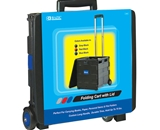 BAZIC 16X18X15 Blue Folding Cart on Wheels withLid Cover