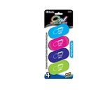 BAZIC Bright Color Oval Eraser (4/Pack)