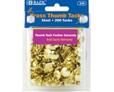 BAZIC Brass (Gold) Thumb Tack (200/Pack)
