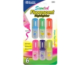 BAZIC Fruit Scented Mini Highlighters (6/Pack)