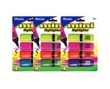 BAZIC Mini Desk Style Fluorescent Highlighters (4/Pack)