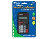 BAZIC 8-Digit Pocket Size Calculator with Flip Cover
