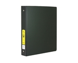 BAZIC 1 Black 3-Ring Binder with 2-Pockets