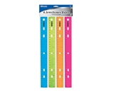 BAZIC 12 (30cm) Jeweltones Color Ruler (4/Pack)
