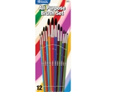 BAZIC Asst. Size Paint Brush Set (12/Pack)