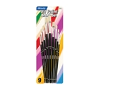 BAZIC Asst. Size Oil Paint Brush Set (9/Pack)