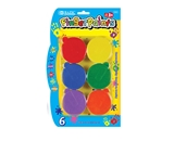 BAZIC Assorted Color 40ml Finger Paint (6/Pack)