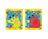 BAZIC 5 Colors 5 ml. Finger Paint with Hand Shaped Mixing Tray