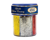 BAZIC 80g / 2.82 Oz. 6 Primary Color Glitter Shaker with PDQ