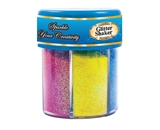 BAZIC 80g / 2.82 Oz. 6 Neon Color Glitter Shaker with PDQ