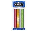 BAZIC Assorted Color Foil Star Label (432/Pack)