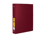 BAZIC 1.5  Burgundy 3-Ring Binder with 2-Pockets