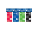 BAZIC 50 Ct. 3 X 5 Top Bound Spiral Memo Books (4/Pack)