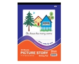 BAZIC 30 Ct. 9 X 12 Picture Story Pad