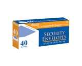BAZIC #10 Security Envelope with Gummed Closure (40/Pack)