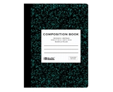 BAZIC 100 Ct. 5-1 Quad-Ruled Marble Composition Book