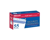 BAZIC #6 3/4 Self-Seal Security Envelope (55/Pack)
