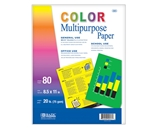 BAZIC 80 Ct. Multi Color Multipurpose Paper