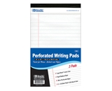 BAZIC 50 Ct. 5 X 8 White Jr. Perforated Writing Pad (3/Pack)