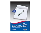 BAZIC 100 Ct. 5.75 X 9 Ruled Writing Tablet
